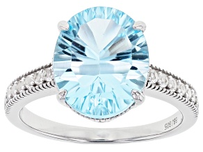 Pre-Owned Blue Topaz Sterling Silver Ring 4.24ctw