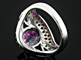Pre-Owned Green Mystic Topaz® Sterling Silver Ring 4.14ctw