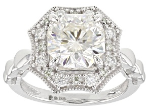 Pre-Owned Moissanite Platineve Ring 3.48ctw D.E.W
