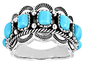 Pre-Owned Blue Arizona Turqoise Sterling Silver Ring