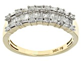 Pre-Owned White Diamond Ring 10k Yellow Gold .60ctw
