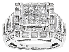 Pre-Owned Diamond 10k White Gold Ring 1.65ctw