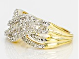 Pre-Owned Diamond 14k Yellow Gold Over Sterling Silver Ring 1.00ctw