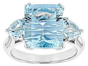 Pre-Owned Sky Blue Topaz Sterling Silver Ring 7.27ctw