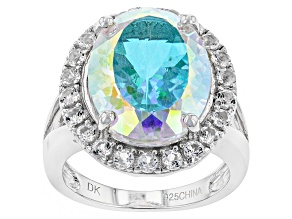 Pre-Owned Mercury Mist (R) Mystic Topaz®  Sterling Silver Ring 10.95ctw