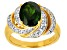 Pre-Owned Green Chrome Diopside 18k Yellow Gold Over Sterling Silver Ring 2.97ctw
