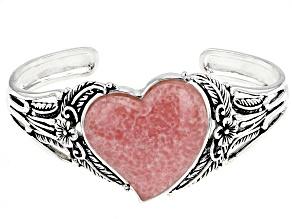 Pre-Owned Pink Rhodochrosite Silver Bracelet