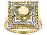 Pre-Owned Green Turkish Diaspore 14k Yellow Gold Ring 3.31ctw