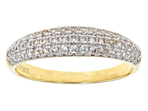 Pre-Owned White Cubic Zirconia 10k Yellow Gold Ring .84ctw