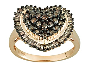 Pre-Owned Champagne Diamond 10k Yellow Gold Ring .95ctw