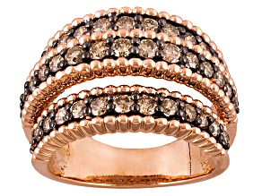 Pre-Owned Champagne Diamond 10k Rose Gold Ring 1.50ctw