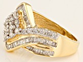 Pre-Owned Diamond 10k Yellow Gold Ring 1.10ctw