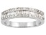 Pre-Owned Womens Classic Band Ring White Diamond .50ctw Sterling Silver