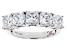 Pre-Owned Cubic Zirconia Silver And 18k Rose Gold Over Silver Ring 5.38ctw (3.55ctw DEW)