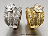 Pre-Owned Womens Engagement Style Ring Cubic Zirconia 9ctw 18k Gold Over Silver