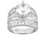 Pre-Owned Womens Engagement Style Ring White Cubic Zirconia 9ctw Platineve