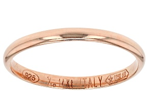 Pre-Owned 14k Rose Gold Hollow Mirror Band Ring.
