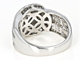 Pre-Owned White Cubic Zirconia Sterling Silver Ring 2.00ctw