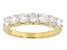 Pre-Owned Moissanite Ring 14k Yellow Gold Over Silver 1.12ctw DEW