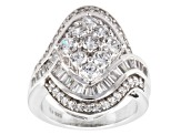 Pre-Owned Cubic Zirconia Silver Ring 4.90ctw (3.37ctw DEW)