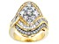 Pre-Owned Cubic Zirconia 18k Yellow Gold Over Sterling Silver Ring 4.90ctw (3.37ctw DEW)