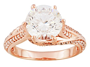 Pre-Owned Cubic Zirconia 18k Rose Gold Over Silver Ring 5.53ctw