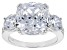 Pre-Owned Cubic Zirconia Silver Ring 14.87ctw (8.63ctw DEW)