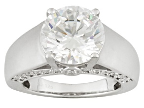 Pre-Owned White Cubic Zirconia Rhodium Over Sterling Silver Ring 7.83ctw