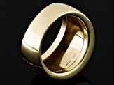 Pre-Owned 10k Yellow Gold Diamond Cut Mirror Dome Ring