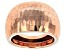 Pre-Owned 10k Rose Gold Diamond Cut Mirror Dome Ring