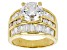 Pre-Owned White Cubic Zirconia 18k Yellow Gold Over Sterling Silver Ring 9.21ctw