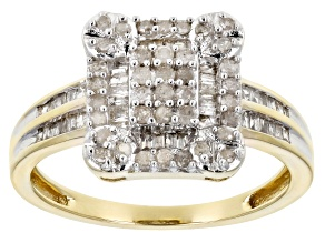 Pre-Owned Diamond .50ctw Round & Baguette 10k Yellow Gold Ring
