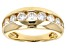 Pre-Owned Moissanite 14k Yellow Gold Over Silver Ring 1.12ctw DEW