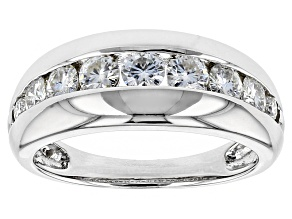 Pre-Owned Moissanite Platineve Ring 1.12ctw D.E.W
