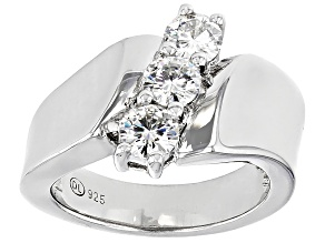 Pre-Owned Moissanite Ring Platineve™ 1.00ctw DEW.