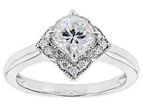 Pre-Owned Moissanite Platineve Ring 1.54ctw D.E.W