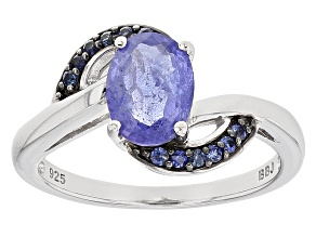 Pre-Owned Blue Tanzanite Sterling Silver Ring 1.71ctw