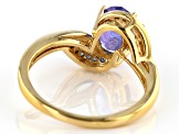 Pre-Owned Blue Tanzanite 18k Yellow Gold Over Sterling Silver Ring 1.71ctw