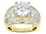 Pre-Owned Cubic Zirconia 18k Yellow Gold Over Silver Ring 8.88ctw (5.17ctw DEW)