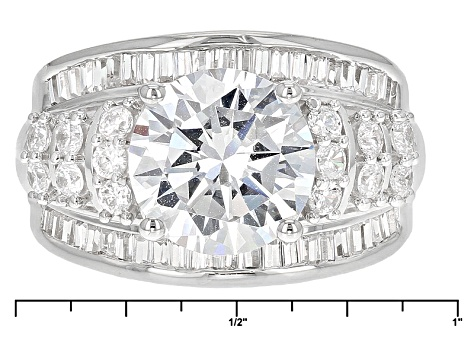 Pre-Owned Cubic Zirconia Silver Ring 8.88ctw (5.17ctw DEW)