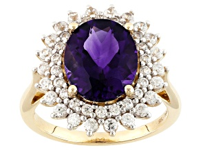 Pre-Owned Purple Amethyst 10k Yellow Gold Ring 3.56ctw