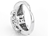 Pre-Owned White Cubic Zirconia Rhodium Over Sterling Silver Ring 3.01ctw