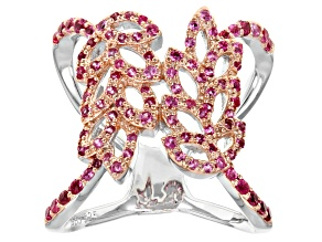 Pre-Owned Pink Spinel Sterling Silver Ring .87ctw