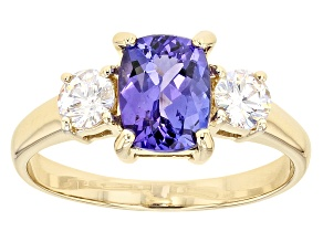 Pre-Owned Blue Tanzanite 10k Yellow Gold Ring 1.97ctw.