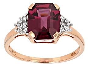 Pre-Owned Grape Color Garnet 10k Rose Gold Ring 3.86ctw.
