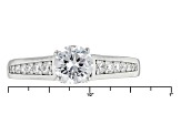 Pre-Owned White Cubic Zirconia Rhodium Over Sterling Silver Ring 2.18ctw