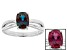 Pre-Owned Color Change Lab Created Alexandrite 14k White Gold Ring 1.40ct