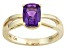 Pre-Owned Purple African Amethyst 14k Yellow Gold Ring 1.30ct.