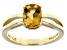 Pre-Owned Yellow Citrine 14k Yellow Gold Ring 1.18ct.