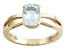 Pre-Owned Blue Aquamarine 14k Yellow Gold Ring 1.09ct.